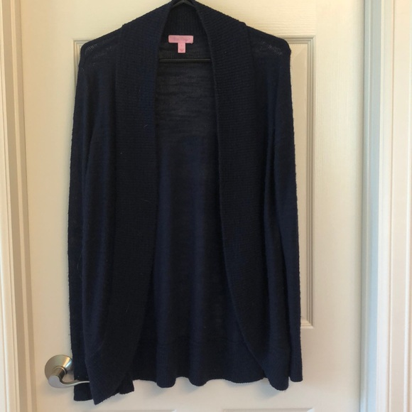 Lilly Pulitzer Sweaters - Lilly Pulitzer Navy Cardigan Size Large